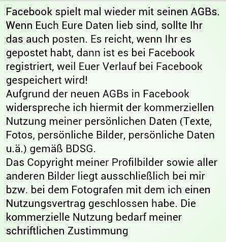 facebook AGB ändern